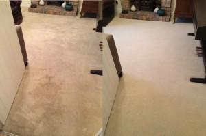 Carpet Cleaning Bristol - before and after