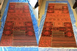 Rug Cleaning South Gloucestershire - before and after