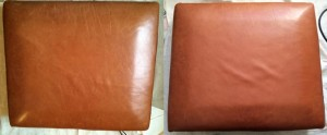 Leather Restoration South Gloucestershire - before  and after