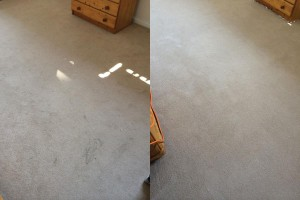 Bedroom Carpet Cleaning- before and after