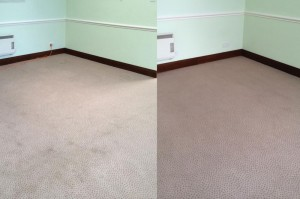 Commercial Carpet Cleaning- before and after