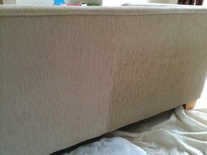 An example of upholstery cleaning by Bonne Fresh Clean