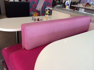 An example of commercial upholstery cleaning by Bonne Fresh Clean - after picture