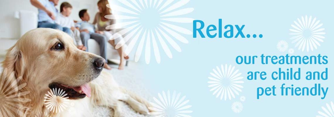 Our treatments are child and pet friendly