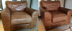 Leather Cleaning Before and After