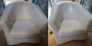 Leather Furniture Cleaning Before and After