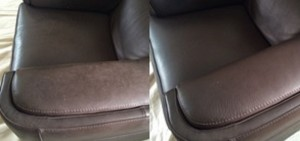 Professional Leather Cleaning Before and After