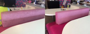Commercial Upholstery Cleaning Before and After